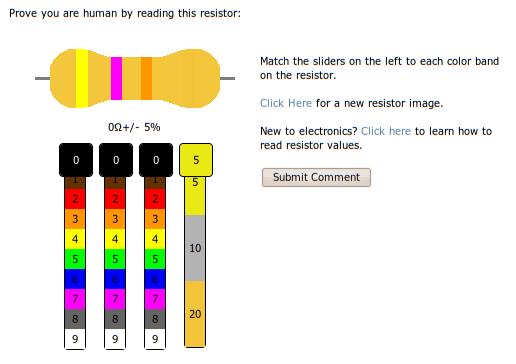 resistor-captcha